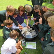 During their second workshop pupils at Chard School got to meet some live moths.